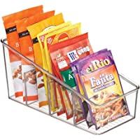 mDesign Large Plastic Food Packet Organizer Caddy - Storage Station for Kitchen, Pantry, Cabinet, Countertop - Holds…