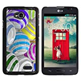 TaiTech / Hard Protective Case Cover - Colorful Glass Reflective Orb Abstract - LG Optimus L70 / LS620 / D325 / MS323