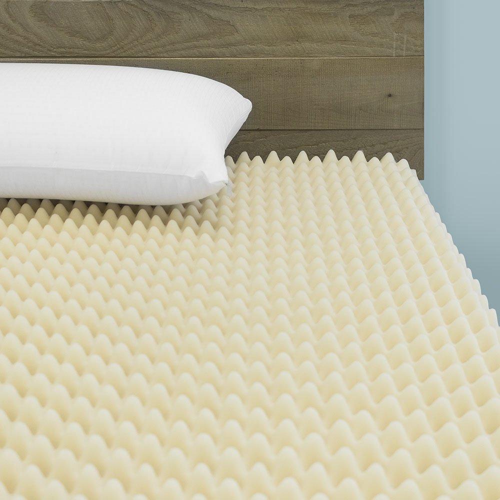 Cardinal & Crest 3-inch Egg Crate Convoluted Foam Mattress Topper | Hypoallergenic Mattress Pad Rejuvenator | Pressure Relieving Foam Topper, King