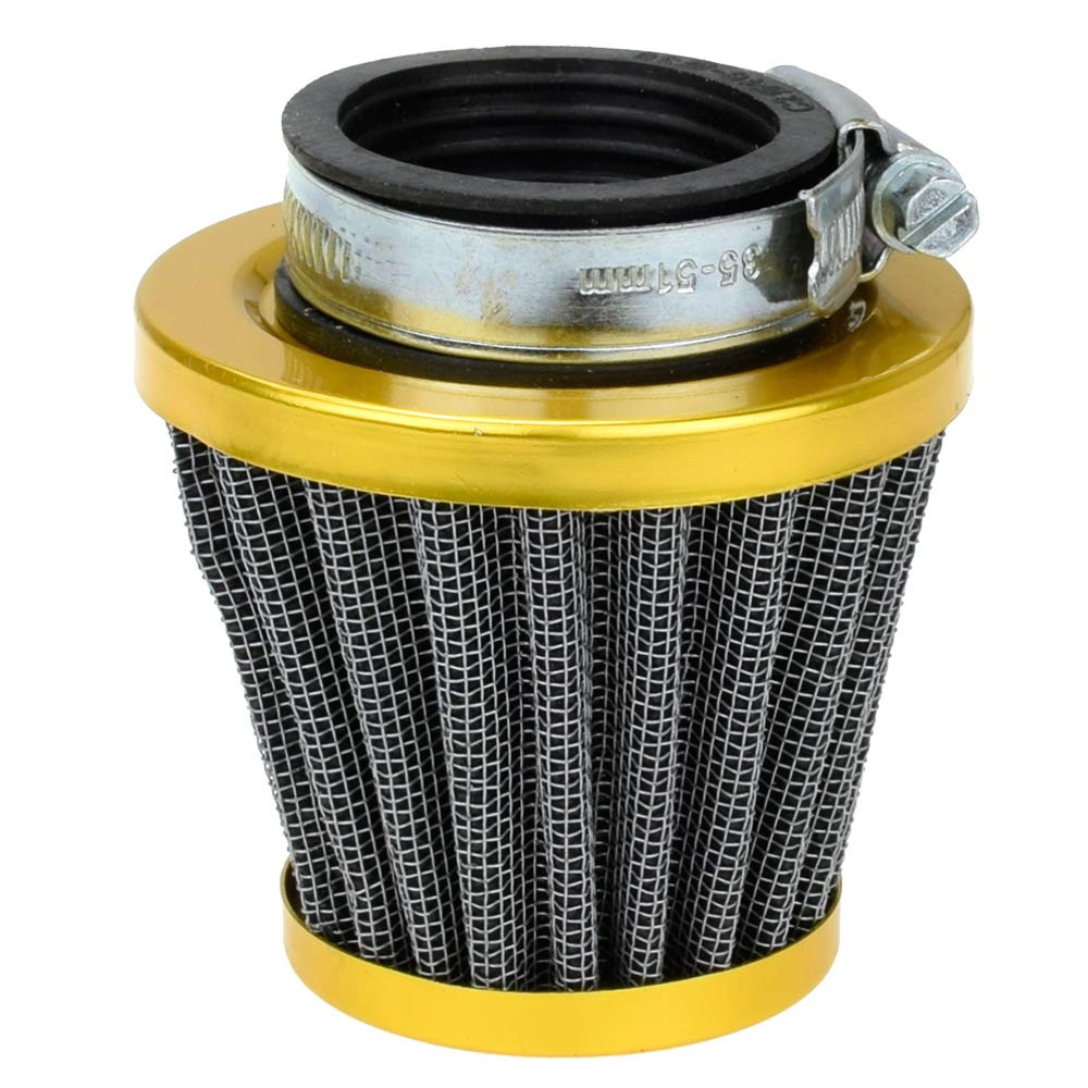 38mm Golden Air Filter Intake Induction Kit for gy6 49cc 50cc Tao Tao 50 ATM Thunder Jonway Chinese Scooter Moped Off-Road Motorcycle ATV Quad 125cc 110cc Dirt Pit Bike