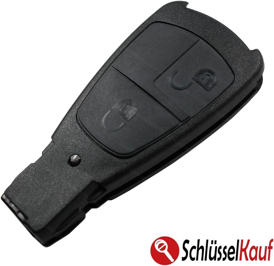 Konikon Autoschlüsselgehäuse 2 Tasten Autoschlüssel Gehäuse Hülle Lang Passend Für C W202 E W210 Clk W208