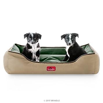 Brindle Cama de Perro de Cabezal Impermeable con Diseño Reversible En color Khaki Forest: Amazon.es: Productos para mascotas