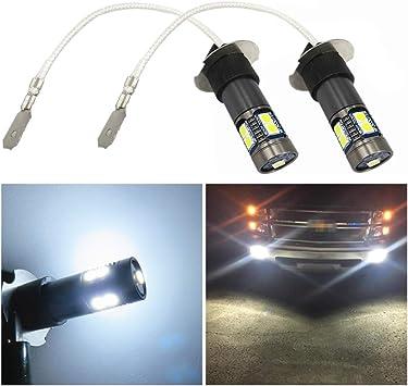 Fog Light Bulb Pair of H3 4014 White LED Car Headlight Fog DRL Light Bulb Lamp DC 12V