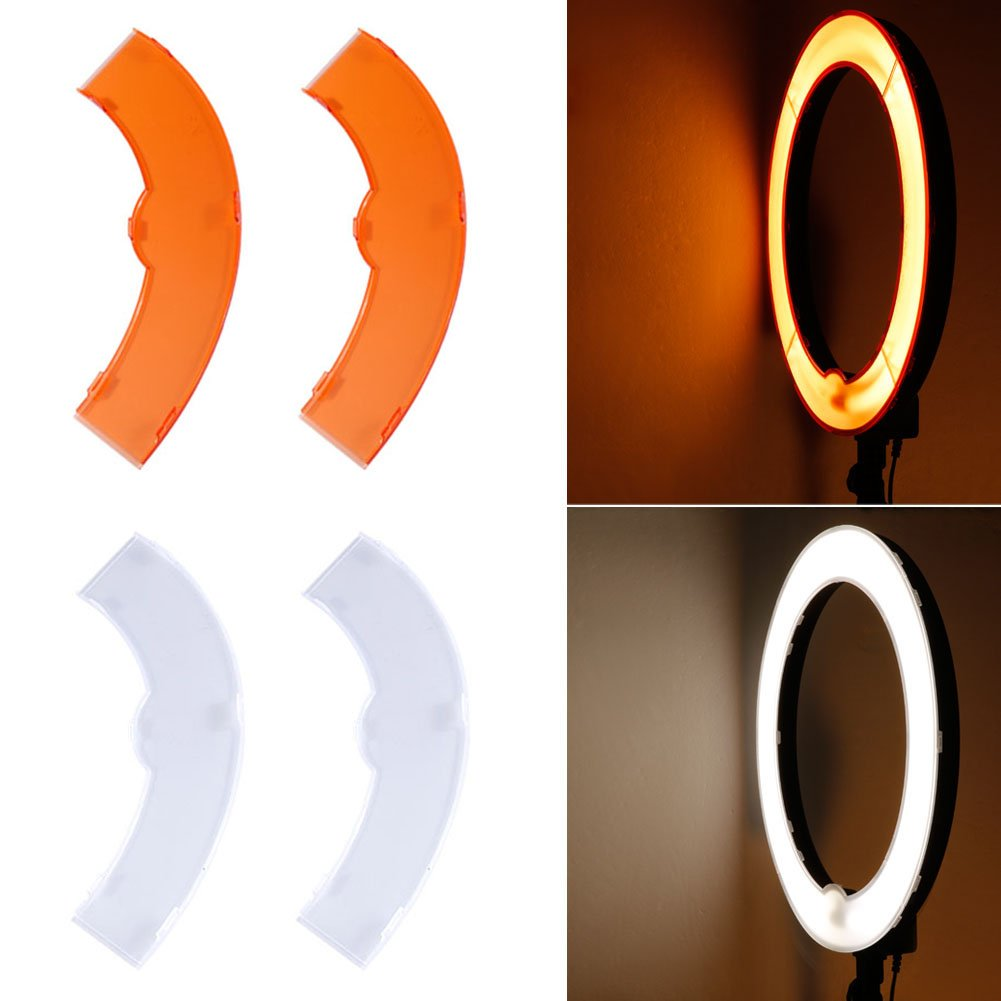Neewer Orange and White Color Filter Set for Neewer 14 inches/36 Centimeters 50W(400W Equivalent) 5500K Ring Light and 36W LED SMD 5500K Dimmable Ring Light 10088891