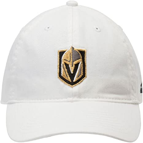 3c6402bd02a Image Unavailable. Image not available for. Color  adidas Las Vegas Golden  Knights NHL Adjustable Slouch Hat White