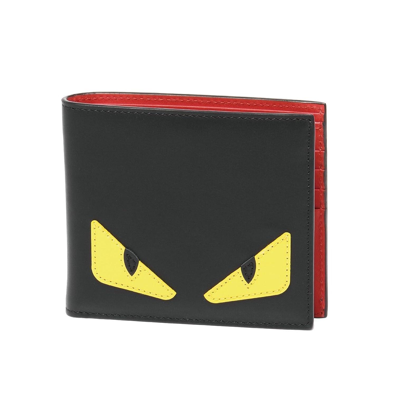 (フェンディ) FENDI 二つ折り財布 BAG BUGS ブラック 7M0169 O73 F0U9T [並行輸入品] B0713S5LD7