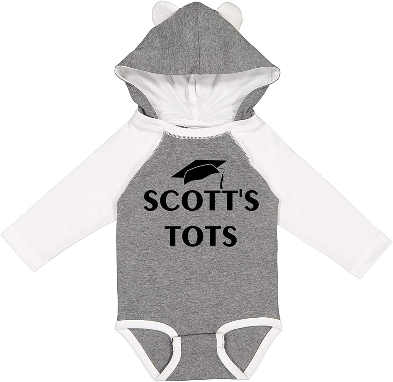 The Office Scott's Tots Long Sleeve Baby Onesie with Ears