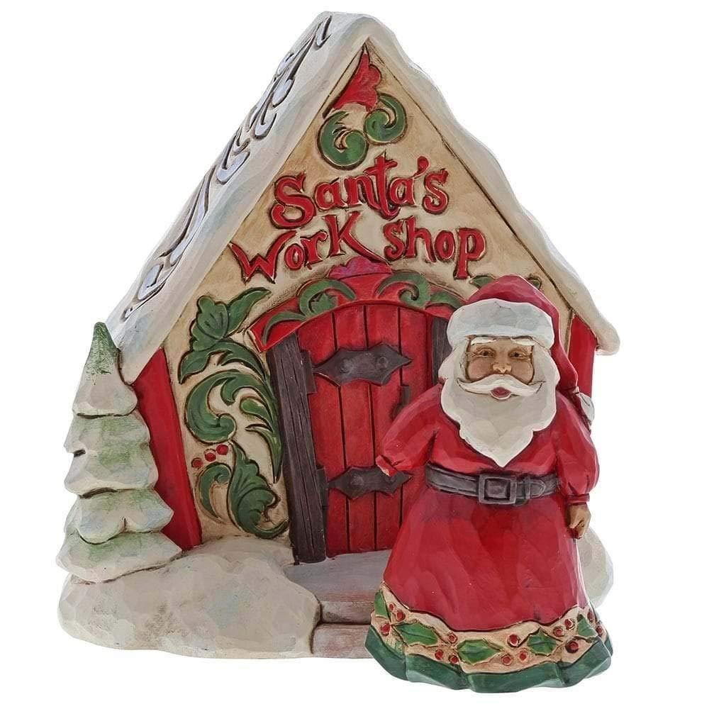Heartwood Creek Santa With Toy Shop Gift Set Figurine
