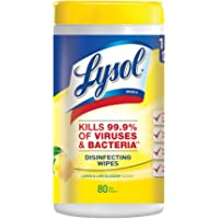 Amazon Price History:Lysol Disinfecting Wipes, Lemon & Lime Blossom, 80ct