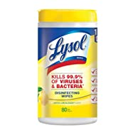 Lysol Disinfecting Wipes, Lemon & Lime Blossom, 80ct