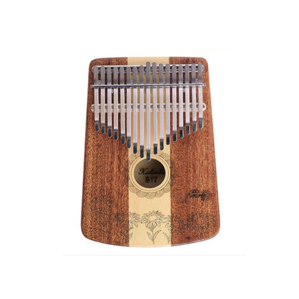 Youshangshipin Kalimba, Sun Flower Style Kalimba Thumb Piano, 17-tone Easy To Learn Portable Belt Style (style 1, Gifts; Thumb Piano Bag + Tuning Hammer + Adjustment Wrench, Etc.)
