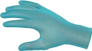 MCR Safety 5030M SensaGuard Vinyl Disposable Industrial Food Service Grade Powdered Gloves, Blue, Medium, 1-Pair