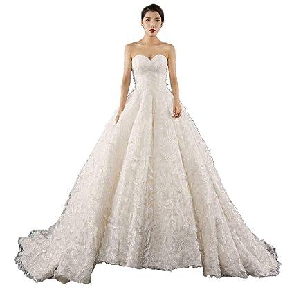 Vestido de Boda de Las Mujeres un Hombro, Novia Delgada Ajustable de la Cinta Princesa