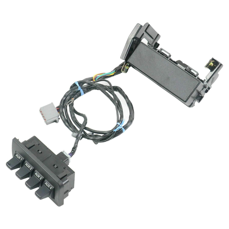 MSQ-CD Auxiliary Dash Upfitter Switch Part#AL3Z13D730AA BC3Z14A303B for Ford Super Duty F250 F350 2011-2016