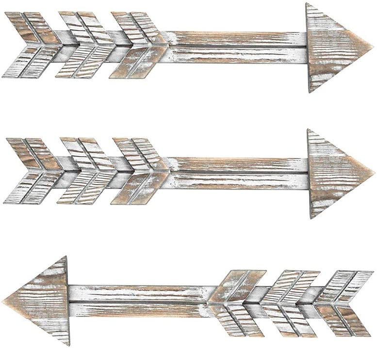 Arrow Decor,Rustic Wood Arrow Sign Wall Decor - Decorative Farmhouse Home Wall Hanging Decor,2 Pack