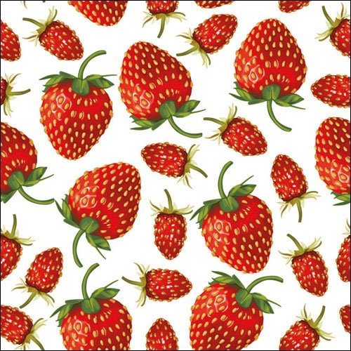 4 Paper Napkins for Decoupage - 3-ply, 33 x 33cm - Strawberries Design Tigers on the Loose