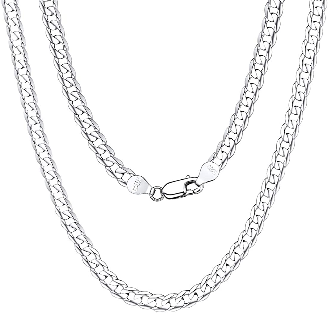 Beautiful Sterling silver 925 sterling Sterling Silver .8mm Open Curb Chain