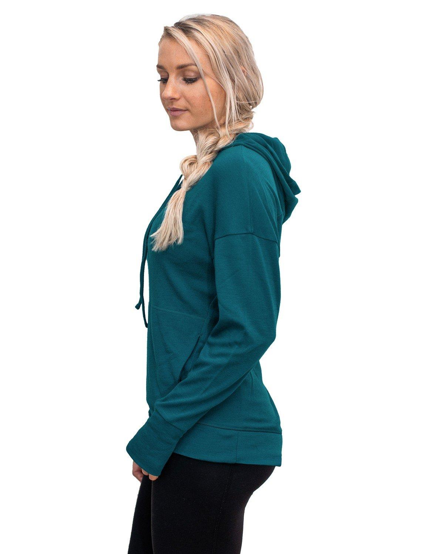 Woolx Callie Womens Merino Wool Sweatshirt Midweight Moisture Wicking Base Layer Hoodie X554