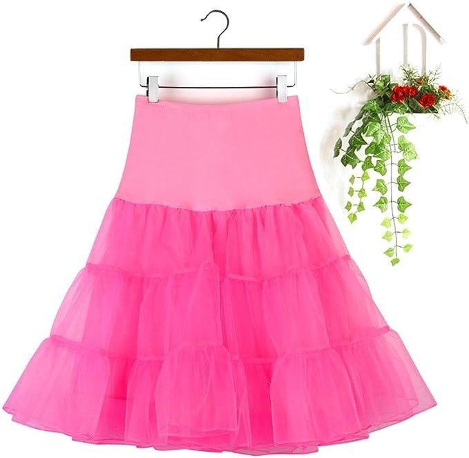 FRAUIT Falda Tul Mujer 50s Vintage Rockabilly Princesa Mini Faldas ...