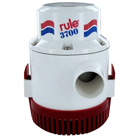 """Rule-Mate RM1100A Fully Automatic Bilge Pumps 1,100 GPH Discharge 1-1//8"""" 12 V"""