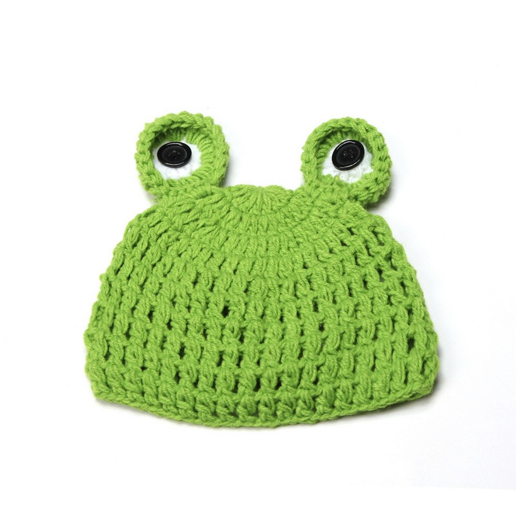 f61c399751c Amazon.com  Double Baby Knit Crochet Cartoon Frog Beanie Hat Photo Prop  Green 0-24 Months  Health   Personal Care