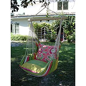 Magnolia Casual Fresh Lime Hammock Chair with Pillow Set