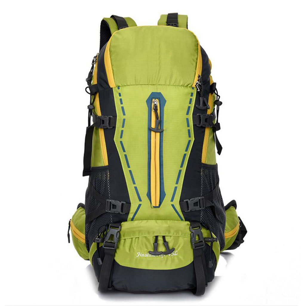 JBHURF Mountaineering Bag Hiking Camping Bag Men and Women Large Capacity Backpack 45L Green Color : Green