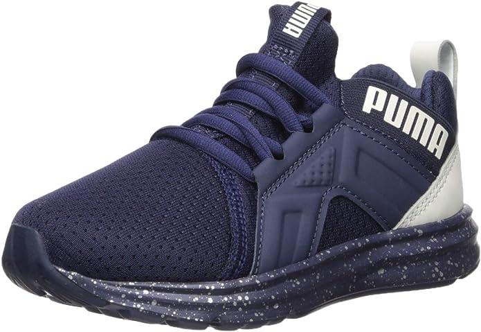 PUMA Unisex ENZO Sneaker, Peacoat-Glacier Gray, 5.5 M US Big Kid