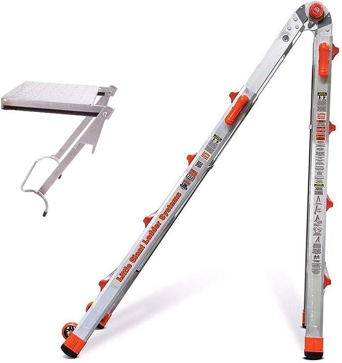 Little Giant escalera de aluminio con plataforma de trabajo 375-LB: Amazon.es: Bricolaje y herramientas
