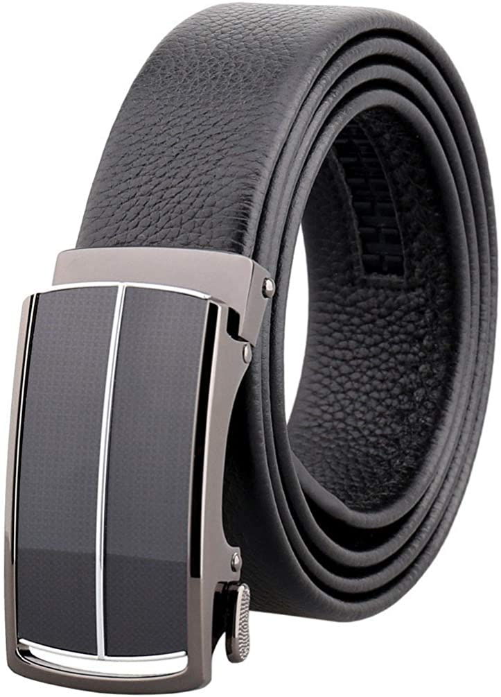 Elibone belt genuine leather belt belts for men Ratchet Slide Belts Leather Automatic Buckle male jeans chain