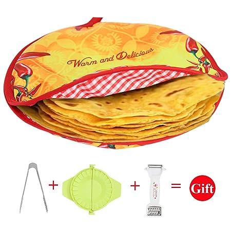 Zdada - Calentador de tortillas para microondas de gran tamaño, 12 ...