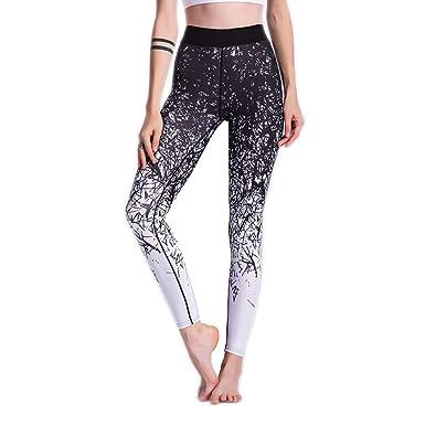 Leisial Pantalón Largos de Fitness para Mujer ...