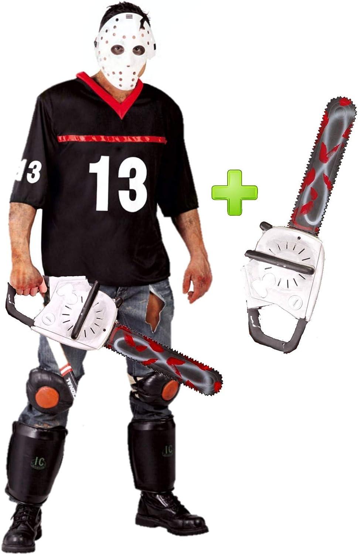 Disfraz de Hockey con motosierra: Amazon.es: Ropa y accesorios