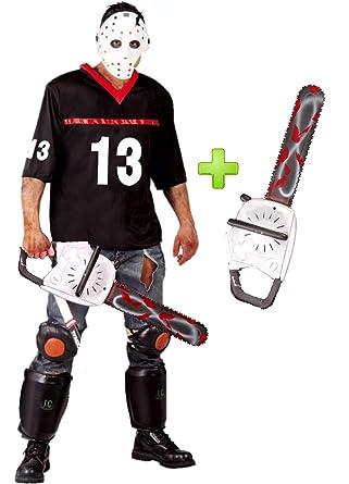 Disfraz de Hockey con motosierra