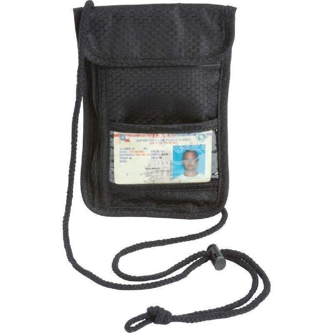 Secret Security Neck Strap Bag Hidden Passport Case Travel Wallet Money Holder