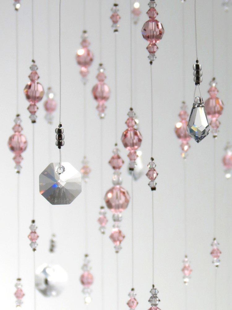 Large Light Pink Swarovski Crystal Chandelier Hanging Mobile Decoration