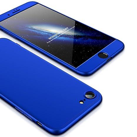 JMGoodstore Funda Compatible iPhone 7,Carcasa iPhone 7,360 Grados Integral Ambas Caras+Cristal Templado,[ 360°] 3 in 1 Slim Dactilares Protectora Skin ...