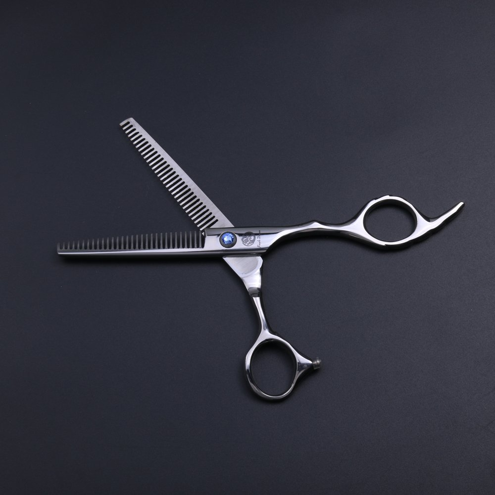 Purple Dragon Professional 6.0 inch Double teeth Barber Hair Thinning Scissor/Shear Set- Perfect for Hair Stylist or Home Use by Purple Dragon (Image #3)