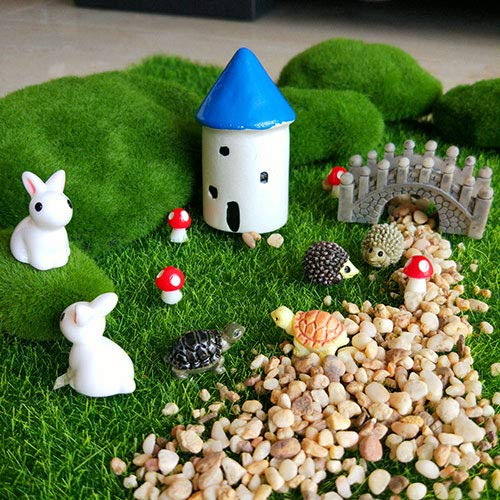 CULER 12Pcs Miniature Fairy Garden Accessories Ornament Kits for DIY ...