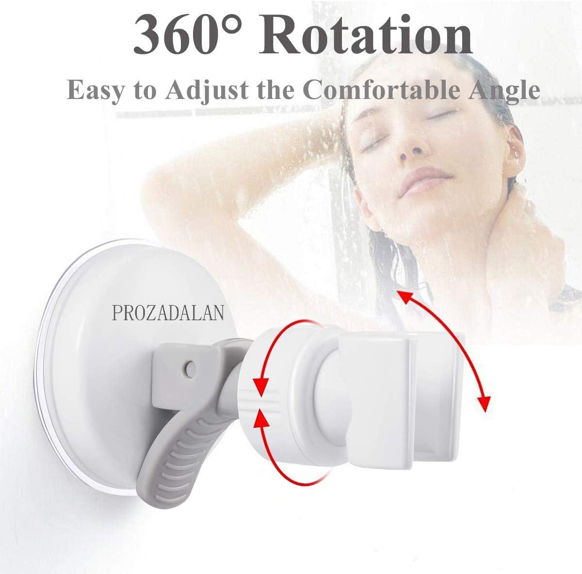 Support de douche /à main rempla/çable Support de douche /à ventouse /à grand adsorbabilit/é 1pcs Support de douche /à ventouse /à rotation 360 /°