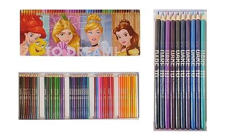 Boite De 50 Crayon De Couleur Princesses Disney Dessin Coloriage