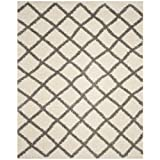 Safavieh Dallas Shag Collection SGDS258F Ivory and Grey Area Rug (8'6″ x 12′) Review