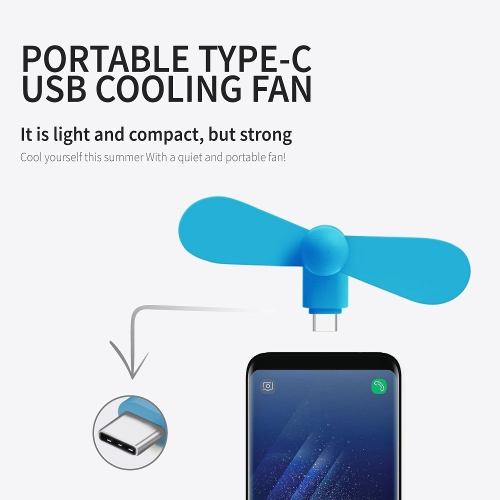 OnePlus 3 and Other Mobile Phone with OTG Function DECVO Electric Hand Micro USB Type C Portable Dock Cool Mini Fan for LG G5 G6 Pixel Mini USB Type C Fan 3Pcs HTC 10 Galaxy S8 Plus//Note 8