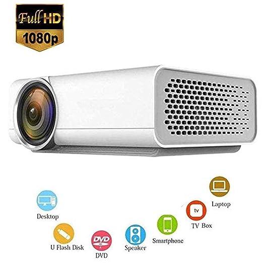 Mini proyectores Proyector de video HD LED, soporte 1800 lúmenes ...
