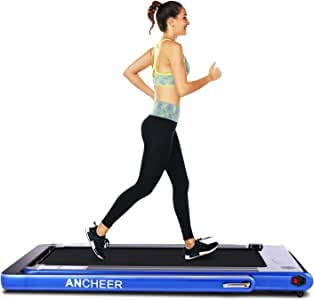 ANCHEER 2 in1 Folding Treadmill, Smart 2.25 HP Under Desk Treadmill, Electric Walking Running Machine with Bluetooth Audio Speakers, Upgraded Smart Top Folding Treadmill