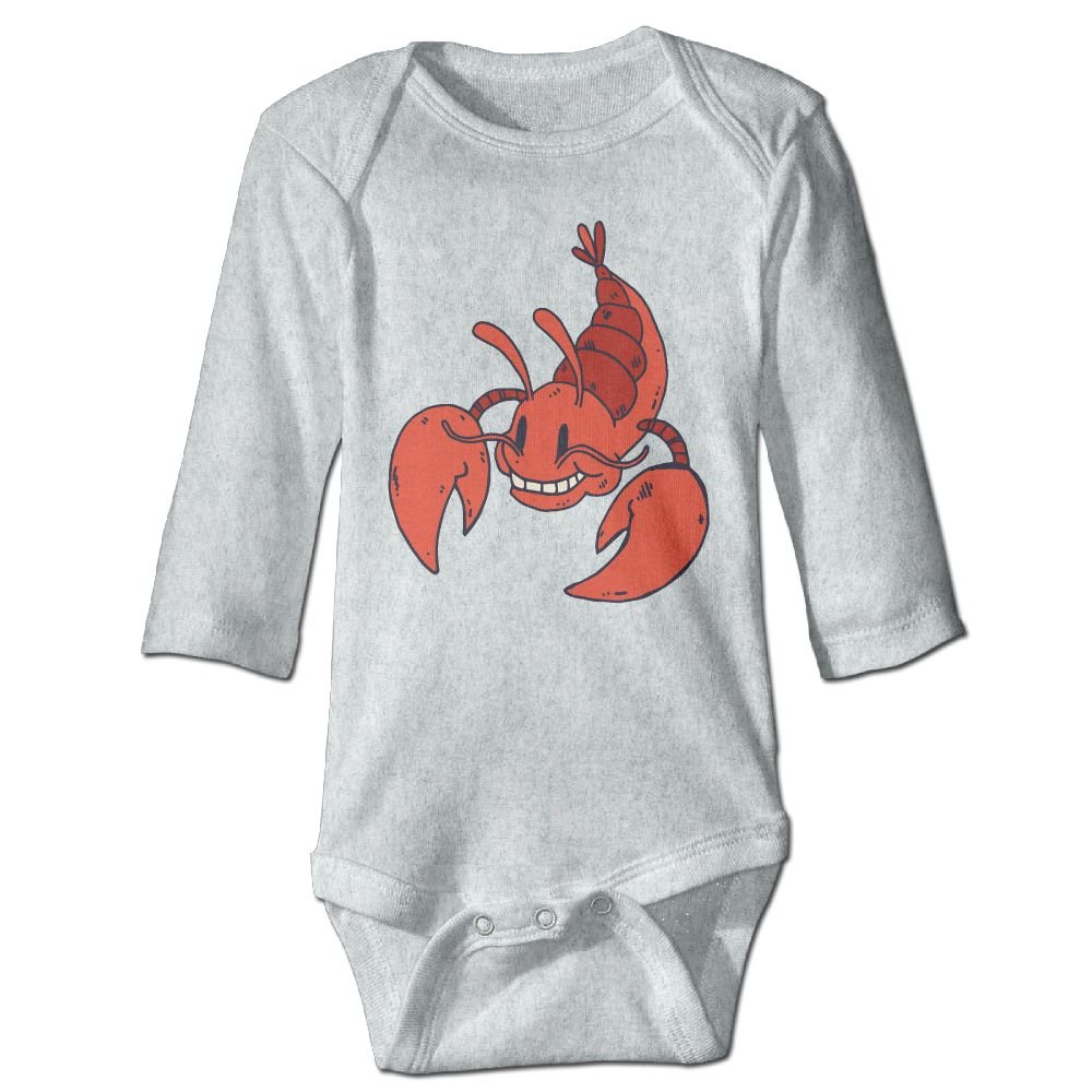 Midbeauty Red Lobster Newborn Cotton Jumpsuit Romper Bodysuit Onesies Infant Boy Girl Clothes