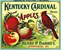Henderson, Kentucky - Kentucky Cardinal Brand Apple Label (9x12 Collectible Art Print, Wall Decor Travel Poster)