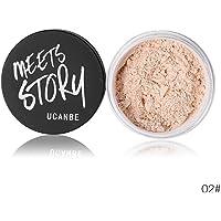 SUPER LIGHT Cosmetic Press Powder Oil Control Makeup Powder Moisturizing Whitening Natural Endurance(2)