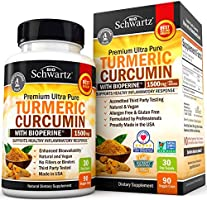 Turmeric Curcumin with BioPerine 1500mg. Highest Potency Available. Premium Joint & Healthy Inflammatory Support with 95%...