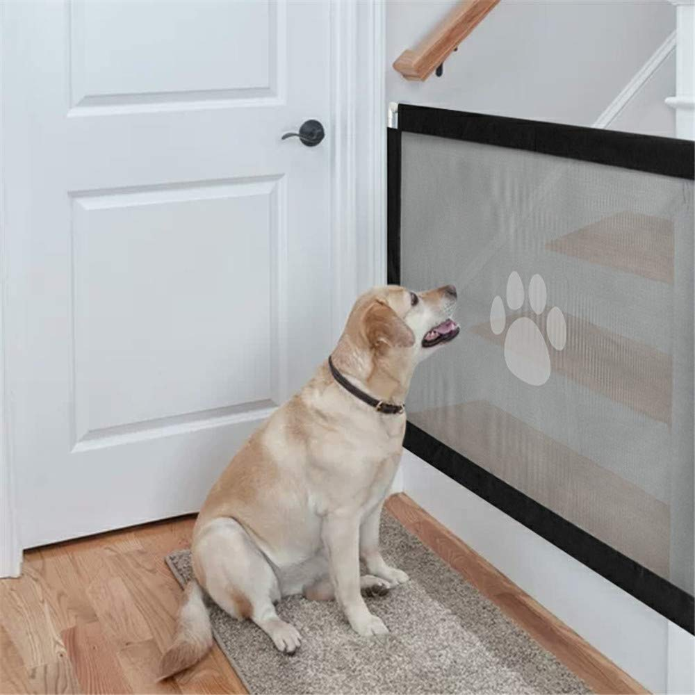 Magic Gate for Dog,Strong Pet Gate Portable Folding Safe Guard Install Anywhere for Pet Safe,Pet Isolation Fence Net by Y&Z (Image #4)